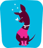 Dog icon illustration Royalty Free Stock Photo