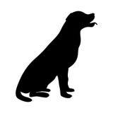 Dog Icon. Labrador Silhouette Sitting Stock Image