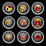 Dog icon set Royalty Free Stock Photos
