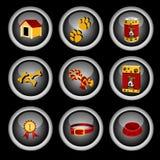 Dog icon set Stock Photos