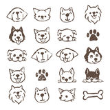 Dog icon set Stock Image