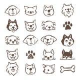 Dog icon set vector illustration