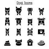 Dog icon set. Illustration graphic design Royalty Free Stock Photo