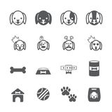 Dog icon set. /16 vector for design Royalty Free Stock Photo
