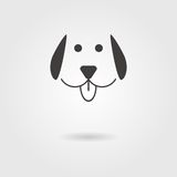 Dog icon with shadow Stock Photo