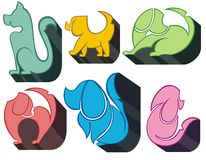 Dog Icon Symbol Set Royalty Free Stock Photos