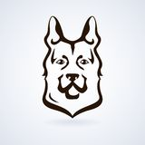 Dog icon vector Royalty Free Stock Photos