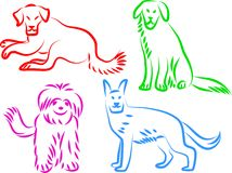 Dog icons Royalty Free Stock Photos