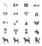 Dog Icons Stock Photography