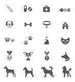 Dog Icons. Cute dog icons set isolated on white. Vector element royalty free illustration