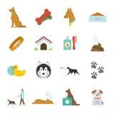 Dog Icons Flat Royalty Free Stock Photography