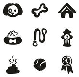 Dog Icons Freehand Fill Royalty Free Stock Photos