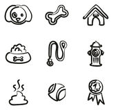 Dog Icons Freehand Royalty Free Stock Images