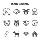 Dog icons Royalty Free Stock Photography