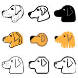 Dog icons set. Red dog icons vector set vector illustration