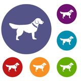 Dog icons set Royalty Free Stock Photo