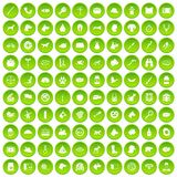 100 dog icons set green circle. Isolated on white background vector illustration Royalty Free Stock Image