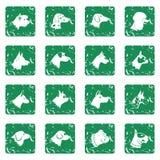 Dog Icons set grunge Royalty Free Stock Image