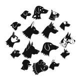 Dog Icons set, simple style. Dog Icons set in simple style isolated on white background Royalty Free Stock Image