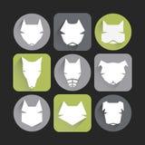 Dog icons. Icons set: stylized dogs. Minimalism Stock Photos