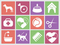 Dog icons set for web. What dogs need royalty free illustration