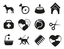 Dog icons set for web. What dogs need vector illustration