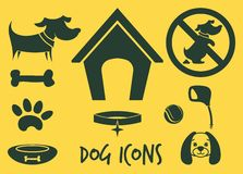 Dog icons Stock Photos
