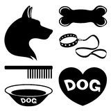 Dog icons. Royalty Free Stock Photo