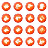 Dog icons vector set Stock Photography