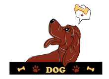 Dog illustration. A illustration of dog graphic for label Royalty Free Stock Photo