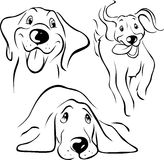 Dog illustration - black line Stock Photography