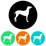 Dog illustration. Illustration of a dog in different colors as a symbol or icon Royalty Free Stock Photography