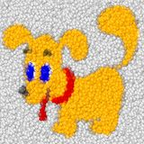 Dog image balls generated hires texture Royalty Free Stock Photos
