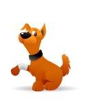 Dog injured. Cartoon illustration of a dog injured royalty free illustration