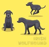 Dog Irish Wolfhound Cartoon Vector Illustration Royalty Free Stock Photography