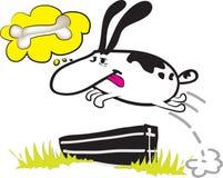 Dog jump. A funny illustartion: dog jump.vector Royalty Free Stock Images