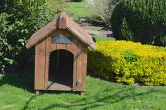 Dog kennel. A empty dog kennel in a home garden Stock Images
