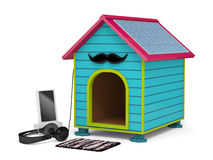 Dog kennel in Hipster style Stock Photos