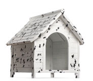Dog kennel, isolated Stock Images