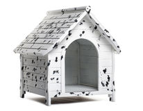 Dog kennel, isolated royalty free stock photos