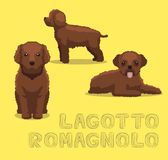 Dog Lagotto Romagnolo Cartoon Vector Illustration. Animal Character EPS10 File Format Royalty Free Stock Images
