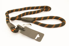 Dog leash. Made of rope and carabiner Stock Photography