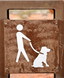 Dog only on leash Stock Image