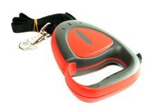 Dog leash isolated on white background. Dog red leash isolated on white background Royalty Free Stock Images