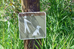 Dog on leash sign Royalty Free Stock Photography