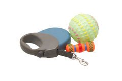 Dog leash and toys. Royalty Free Stock Image