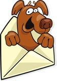 Dog in letter envelope Stock Photo