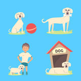 Dog life vector Set Royalty Free Stock Photography