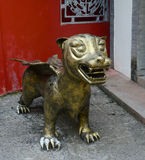 Dog-lion statue Royalty Free Stock Photos