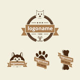Dog logo Stock Photography